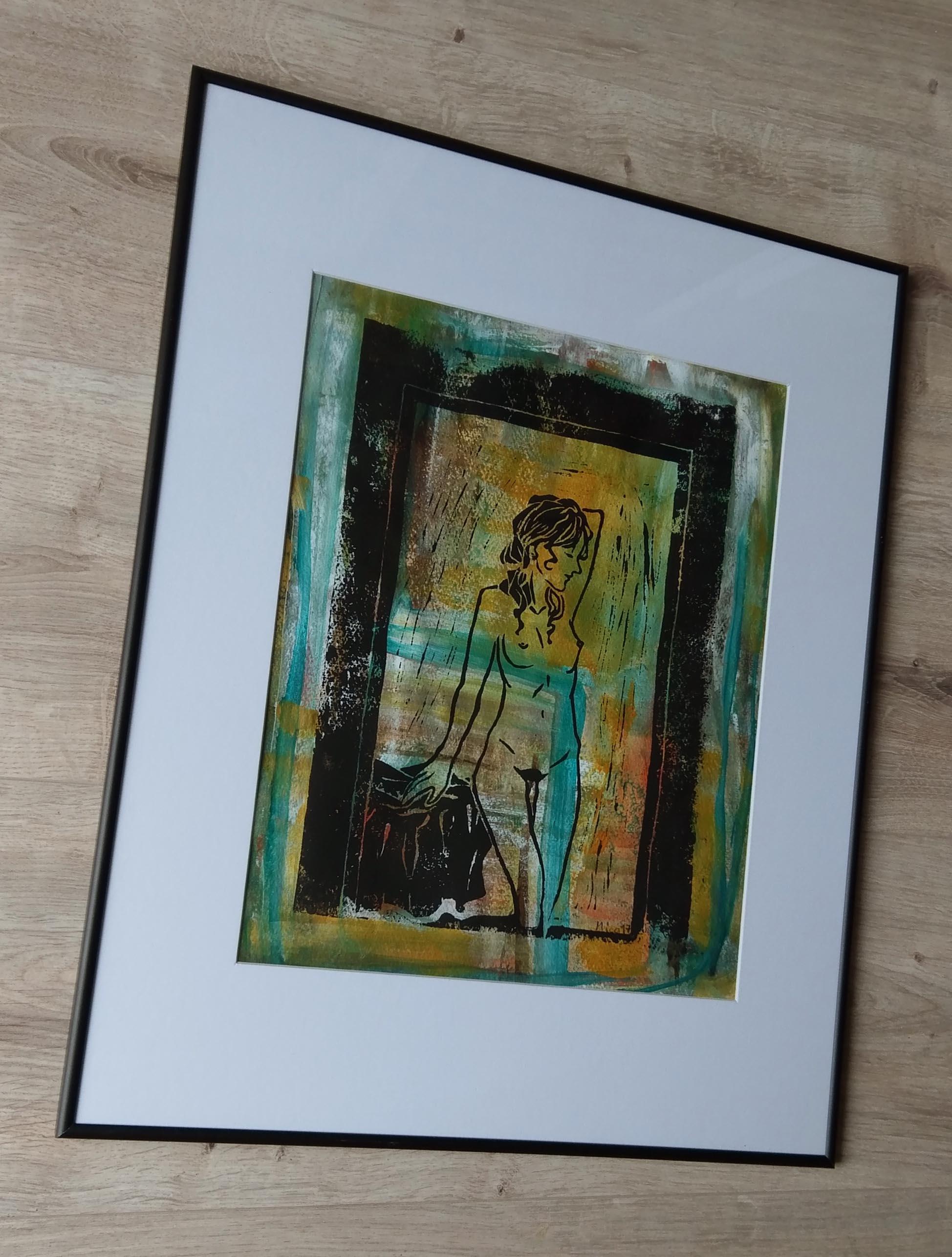 MICO Modern Malerei Original Bütten Rahmen Kunst Bild abstrakt ...