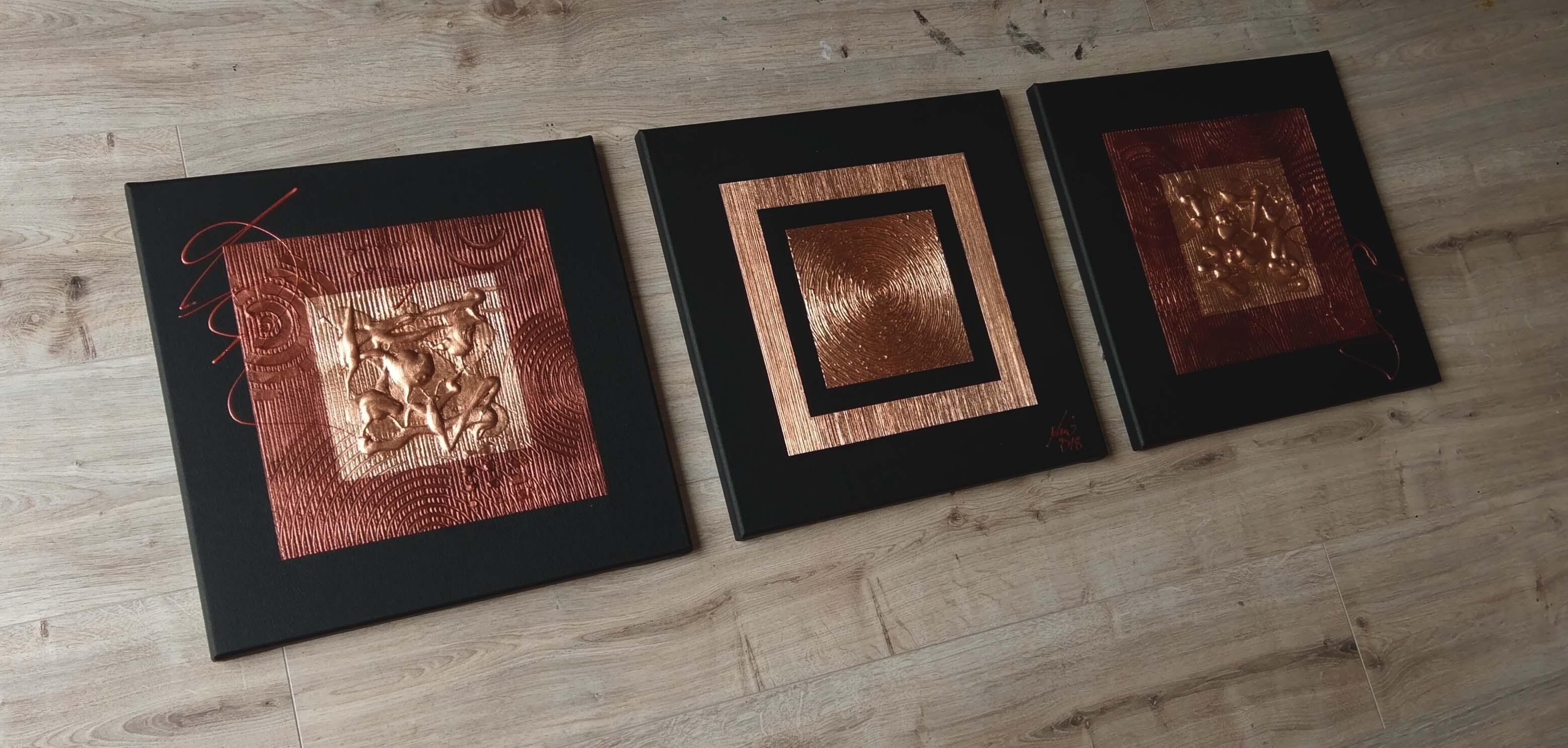 MICO Original Moderne Malerei Kunst Kaufen Leinwand Gemälde Kupfer ...