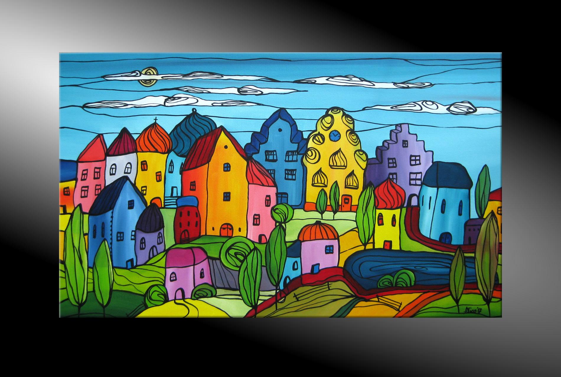 c goethe original handgemalt kunst auf leinwand bilder landschaft malerei bild ebay. Black Bedroom Furniture Sets. Home Design Ideas