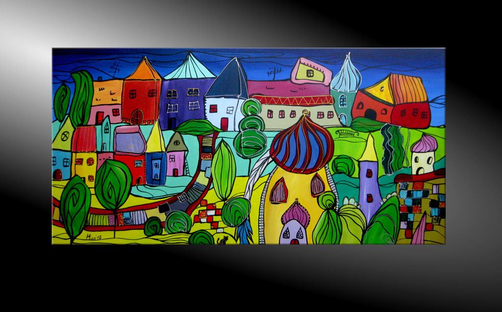 - City Fantasies No 36 Moderne Kunst in Acryl kaufen