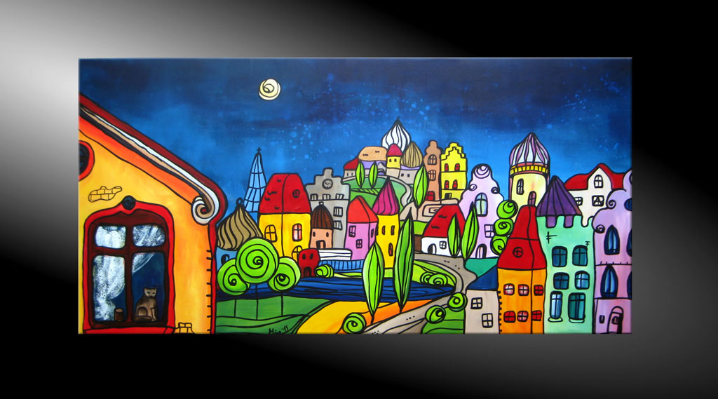 - City Fantasies No 9 Moderne Kunst in Acryl kaufen