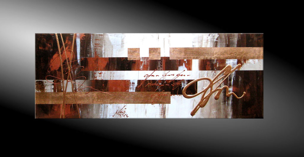 - Double Line Copper Moderne Kunst in Acryl kaufen