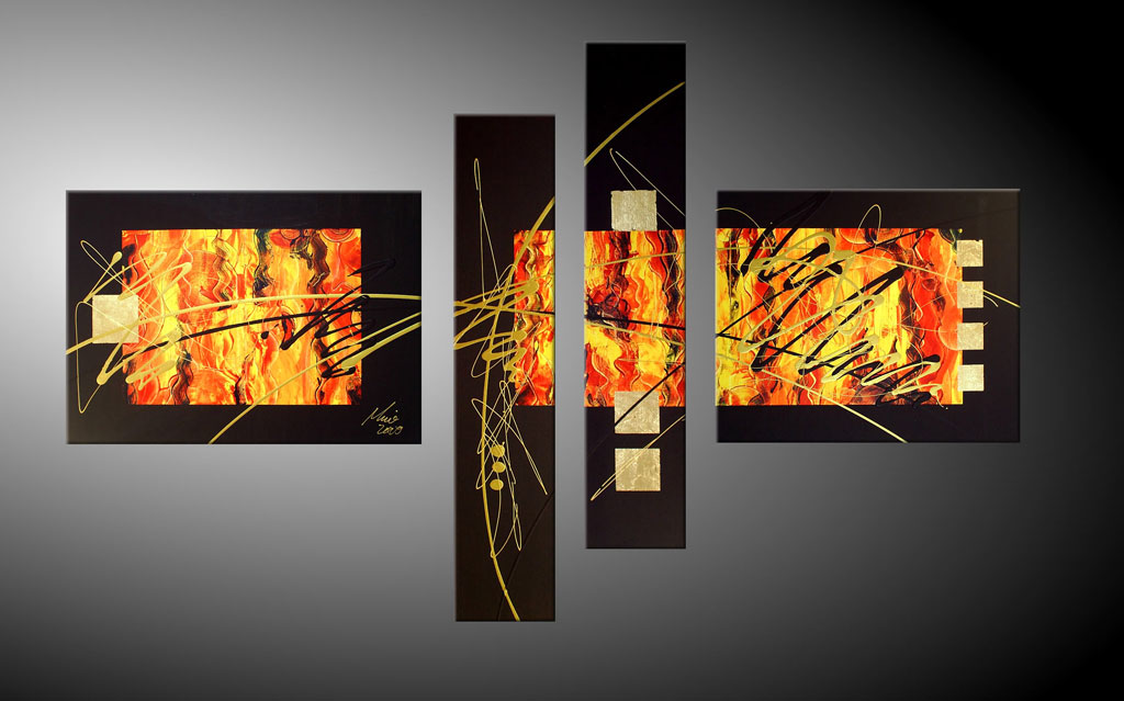 - Eternal Flame Moderne Kunst in Acryl kaufen