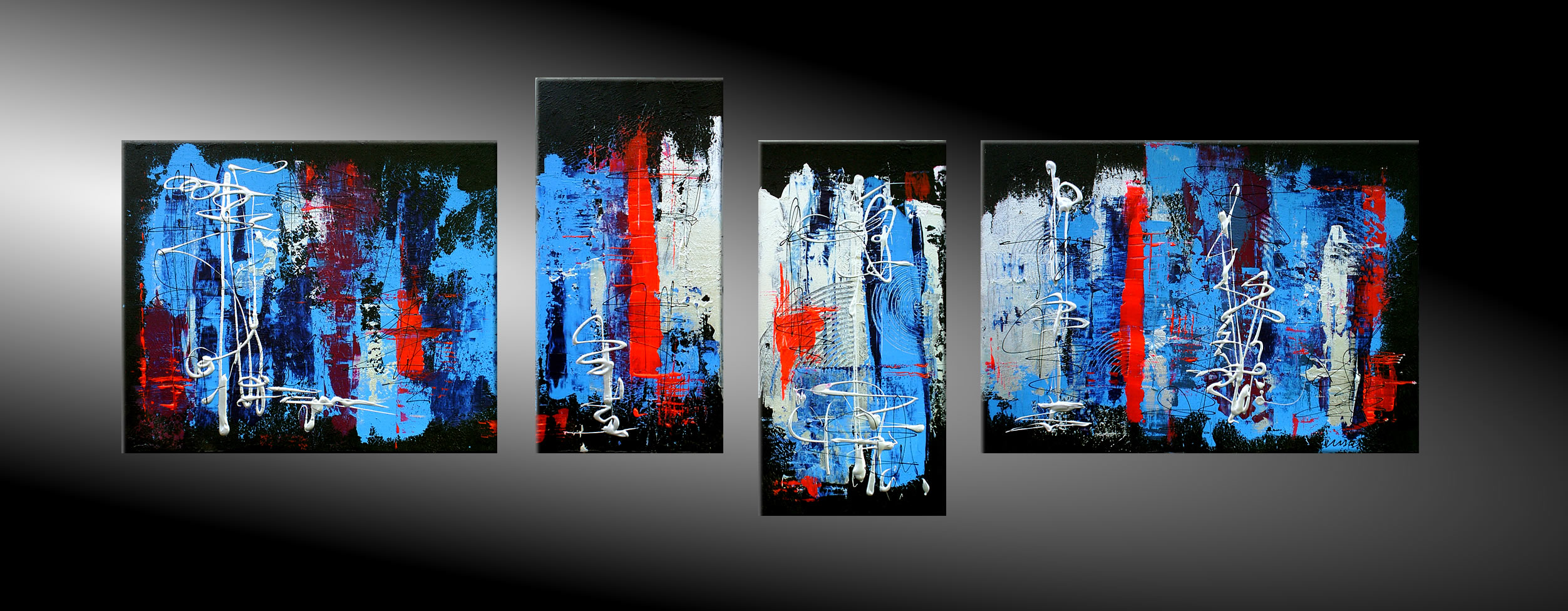 - LOST WORLD V 190x60 Moderne Kunst in Acryl kaufen