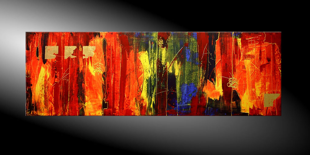 - MESSAGES IV 120x40 Moderne Kunst in Acryl kaufen