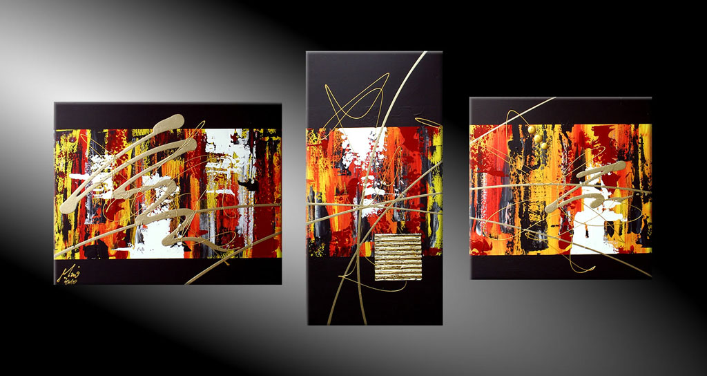 - MOMENTS IN FIRE 130x60 cm Moderne Kunst in Acryl kaufen
