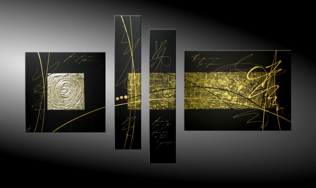 - SENSATION IN GOLD XIX 180x100 cm Moderne Kunst in Acryl kaufen