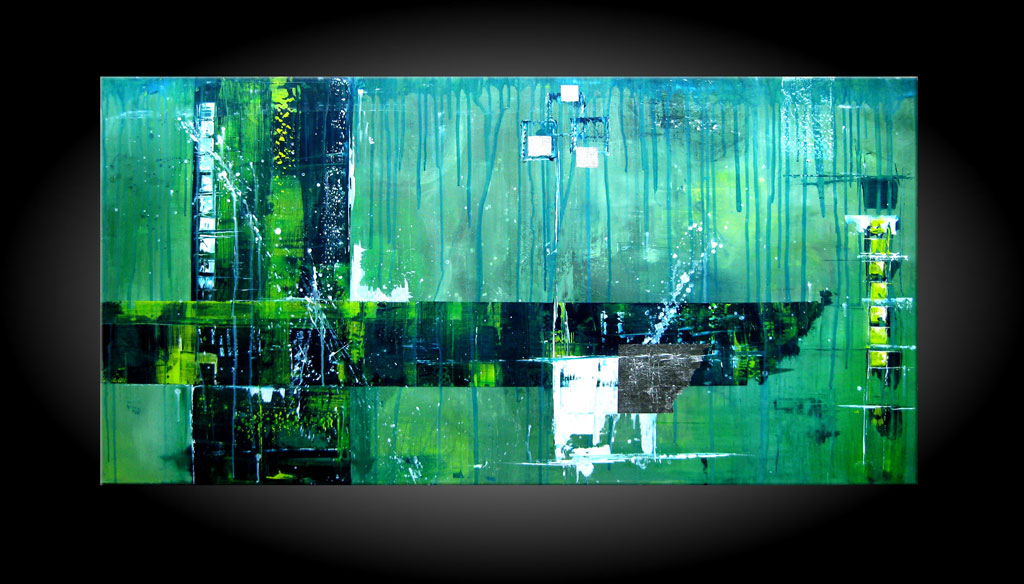 - THE TIME GOES 120x60 cm Moderne Kunst in Acryl kaufen